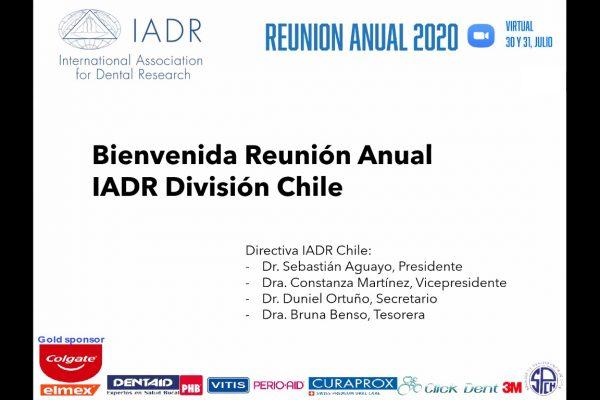 Exitosa primera reunión virtual de IADR División Chile organizada por la Escuela de Odontología
